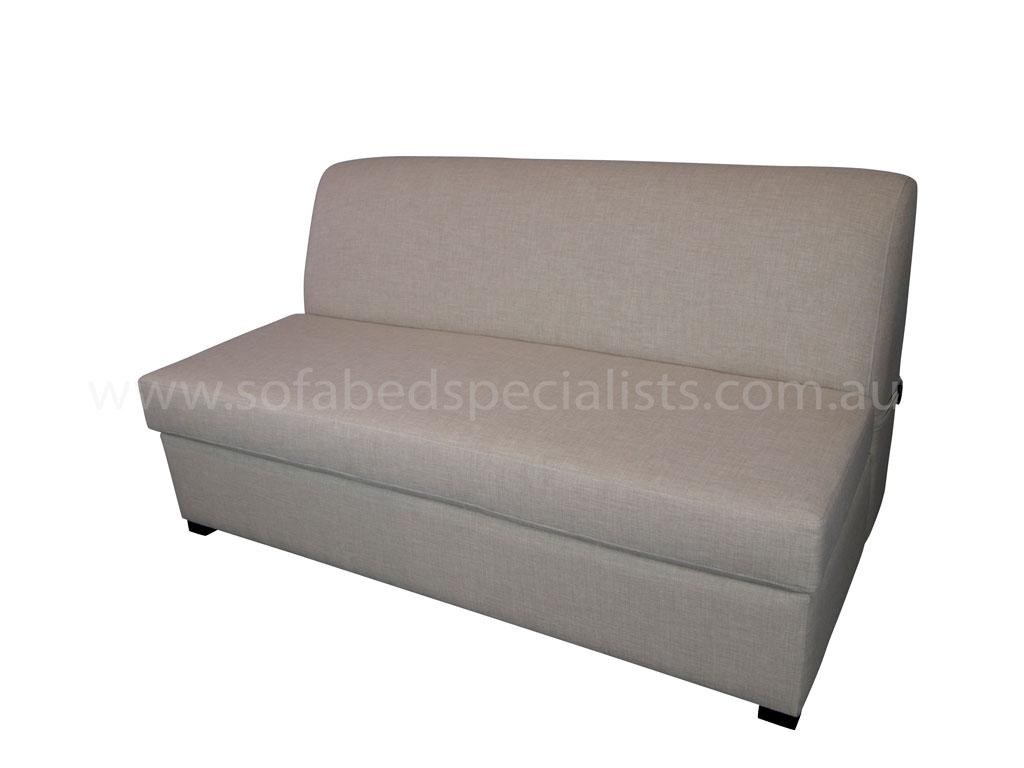 Armless sofabed with innerspring mattress sofa bed specialists Sofa specialists
