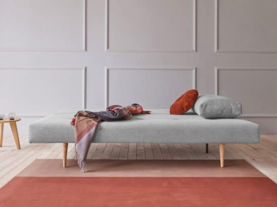 Recast Sofa Bed with Light Styletto Legs in 590 Micro Check Grey