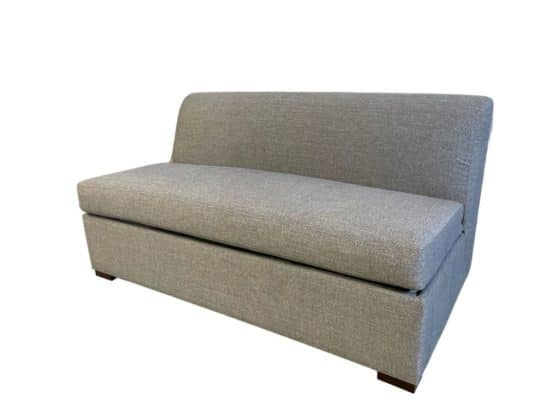 Brisbane Armless Sofa Bed Double Madrid Storm 1